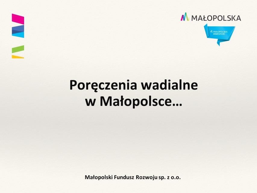 Grafika ilustrująca poręczenia wadialne w Małopolsce