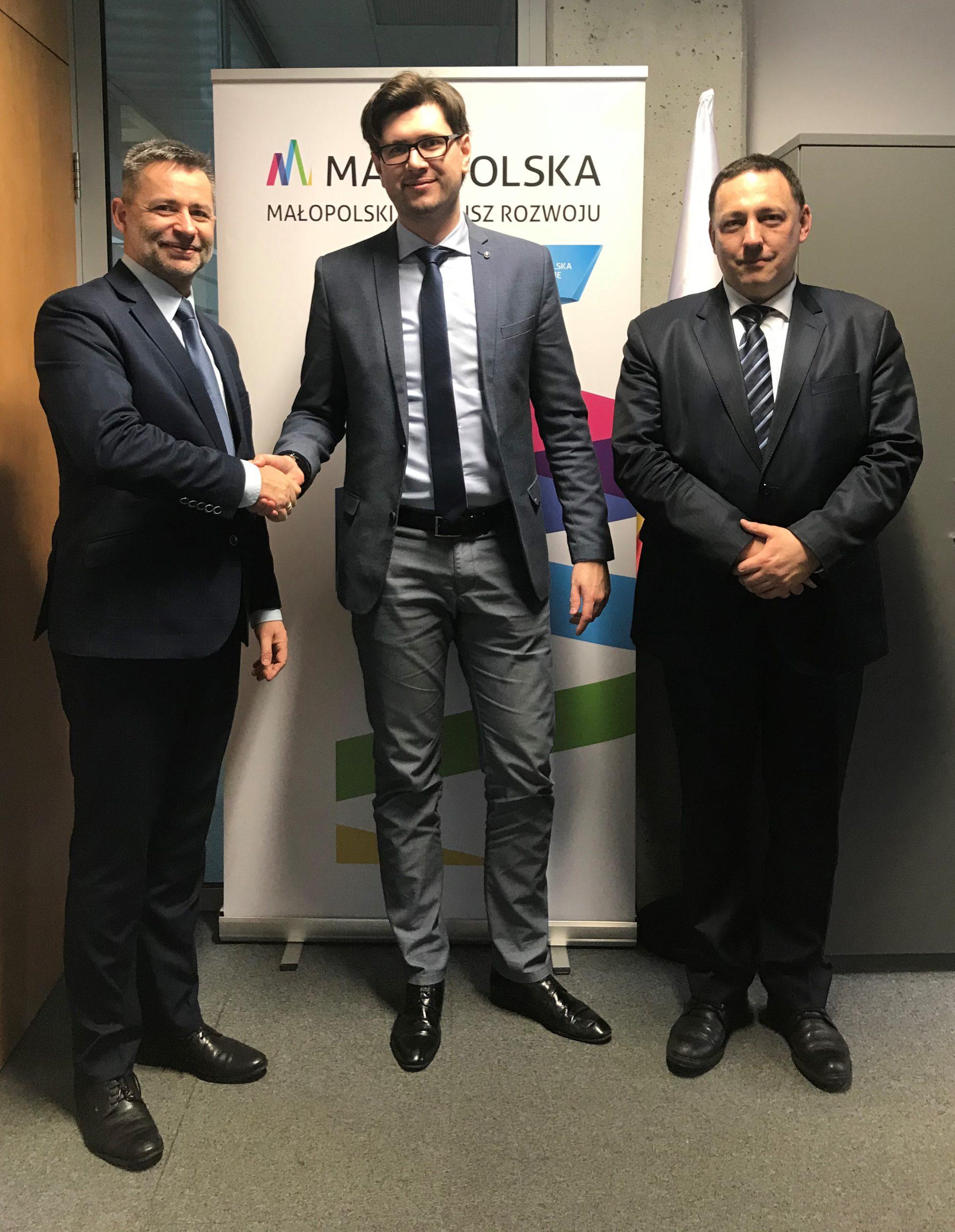 Prezes Zarządu MFR oraz Zarząd Tarnowskiej Agencji Rozwoju Regionalnego